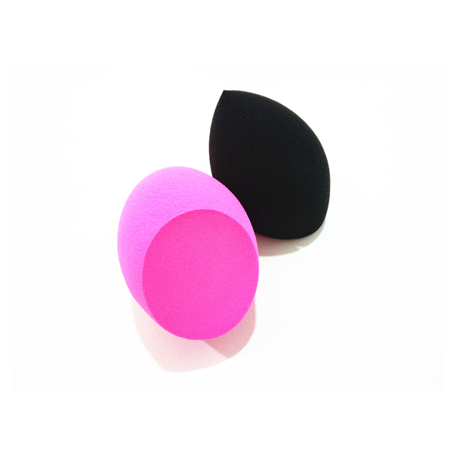 Sprial Olive With 1 Side Cutting Shaped Makeup Sponge